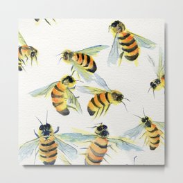 All About Bees Metal Print
