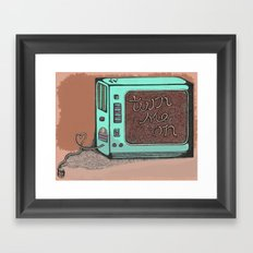 The 21st century love of your life. Framed Art Print