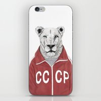 soviet iPhone & iPod Skins featuring Soviet lion by Balazs Solti
