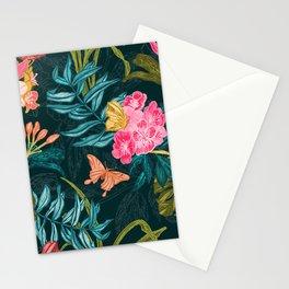 Monsoon Bloom_Dark Stationery Cards