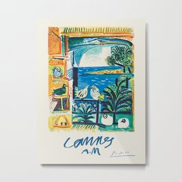 Cannes - French travel poster by Pablo Picasso, 1962 Metal Print