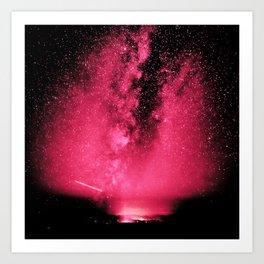 Desert Night Sky Magenta Pink Art Print