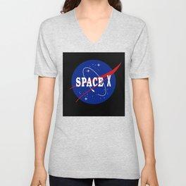Space X Nasa Parody Unisex V-Neck