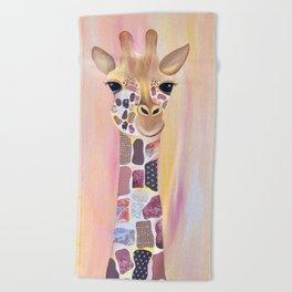 Giraffe - Friends of the Earth Series Beach Towel