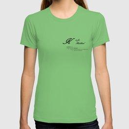 K is for Knobhead, Minimalist Elegant Dictionary Style Bad Language Typography T-shirt
