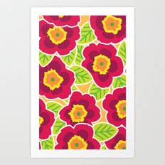 Primrose Collection 3 Art Print