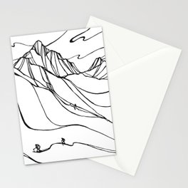 Creating Curves II :: Single Line Stationery Cards
