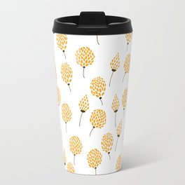 Floral pattern in blue and yellow Travel Mug