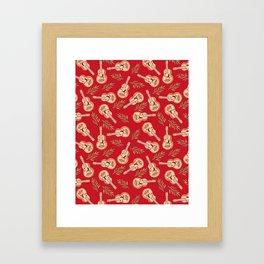 Rappa's ukelele on red Framed Art Print