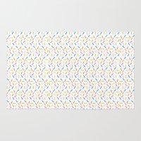 sprinkles Area & Throw Rugs featuring Sprinkles by Vera Mota