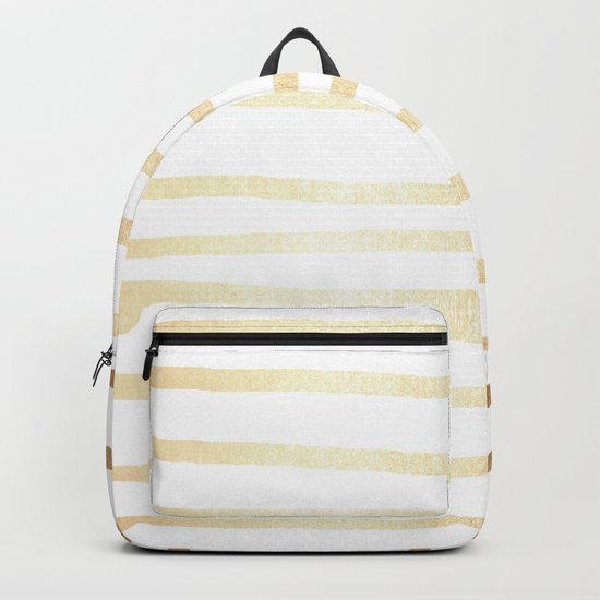 Simply Drawn Stripes Golden Copper Sun Backpack