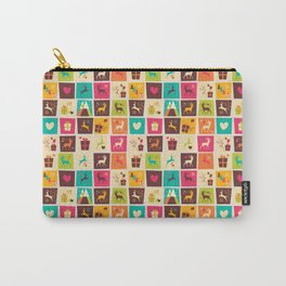 Christmas square pattern 02 Carry-All Pouch