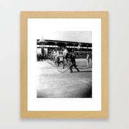 Bicycle race Framed Art Print