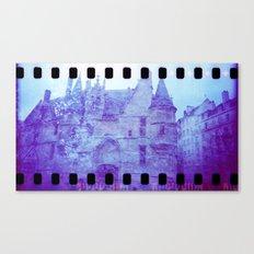 Chateau & Flowers Canvas Print
