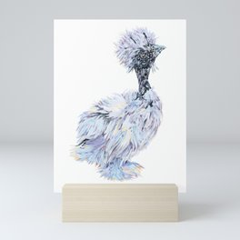 Silkie Chicken - Showgirl Chick Mini Art Print