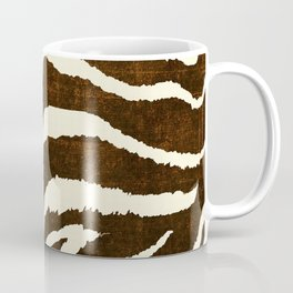 ANIMAL PRINT ZEBRA IN WINTER 2 BROWN AND BEIGE Coffee Mug