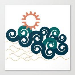 sun in a beach Canvas Print