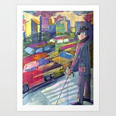 A blind man  Art Print