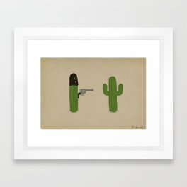 Stick'em Up Framed Art Print