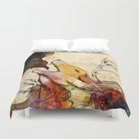 howl Duvet Covers featuring Howl by Lucy Wood - White Rabbit Says