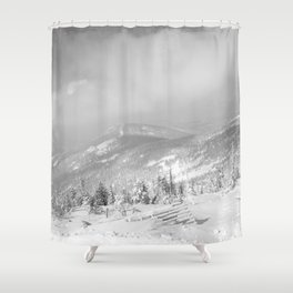 Winter day 7 Shower Curtain
