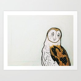 owl in june. Art Print