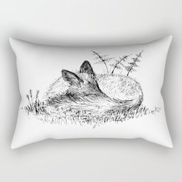 Sleepy Fox Rectangular Pillow