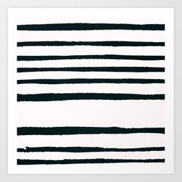 Abstract geometrical hand painted brushstrokes stripes Art Print