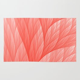 Living Coral Color of the Year 2019 Abstract Pattern Fractal Fine Art Rug