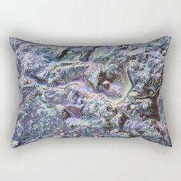 Rainbow effect oil on tarmac road photograph Rectangular Pillow