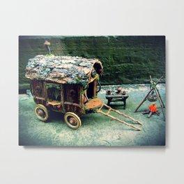 Faery Travelers Camp Metal Print