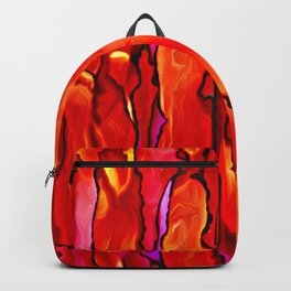 Reverie in Red Yellow and Violet Backpack