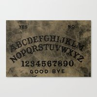ouija Canvas Prints featuring Ouija by Andrea Raths