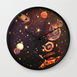 Space Boots. Wall Clock