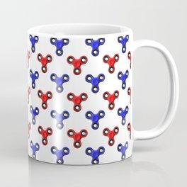 Finger Spinner Polka Dot Red and Blue Pattern Coffee Mug