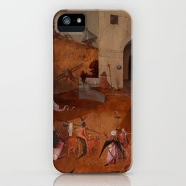 "Hieronymus Bosch ""The Last Judgment"" triptych (Bruges) right panel iPhone Case"