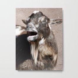 Goat singing Blessings Metal Print
