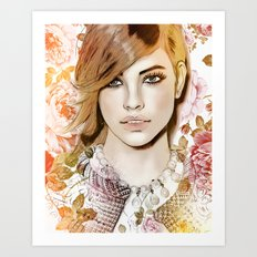 Barbara Palvin - Vogue Art Print