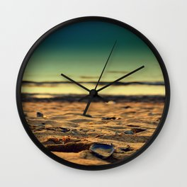 mussel on sand Wall Clock
