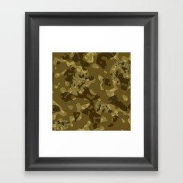 Camo Chaos Framed Art Print