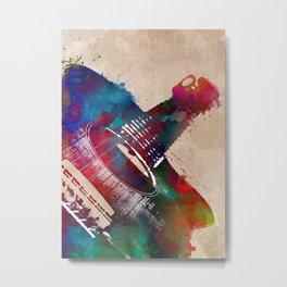 Guitar art 23 #guitar #music Metal Print