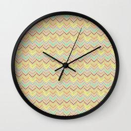 Colorful abstract modern geometrical chevron pattern Wall Clock