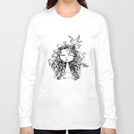 curly hair Long Sleeve T-shirt