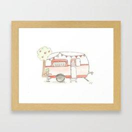 chouchou  caravane  Framed Art Print