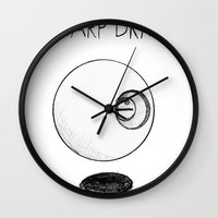 erotic Wall Clocks featuring Erotic Warp Drive by notalkingplz