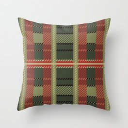 Holiday Plaid Throw Pillow