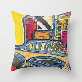 Brisbane City Series Painting Throw Pillow