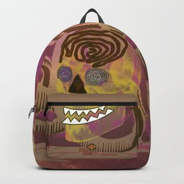 Skull in a Tubular Landscape Backpack