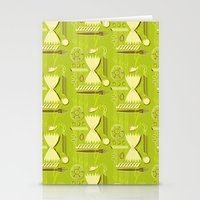 pasta Stationery Cards featuring Pasta Pattern by Zoe Lotus