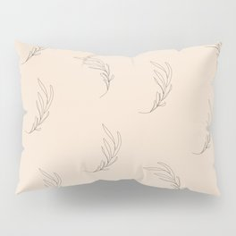 Minimalist leaves, almond Pillow Sham